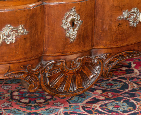 Exceptional 18th Century Country French Walnut Commode