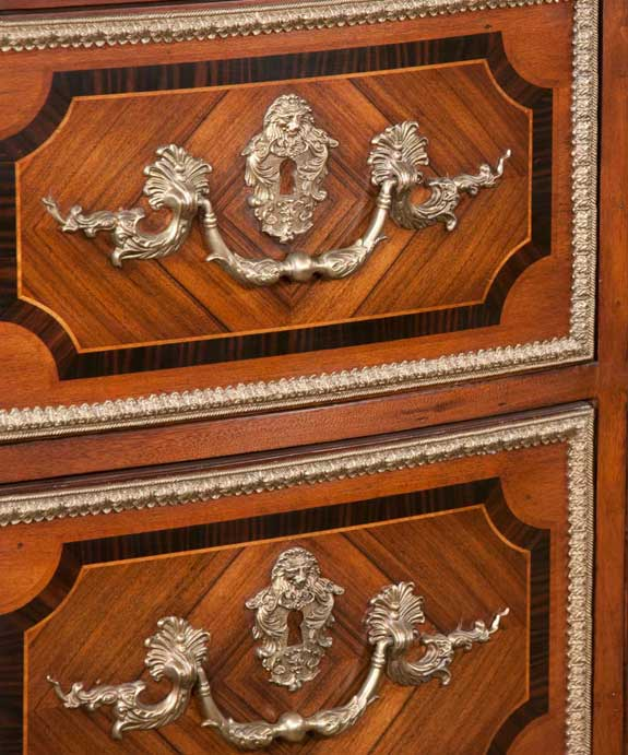 Serpentine Commode with Marquetry Inlay