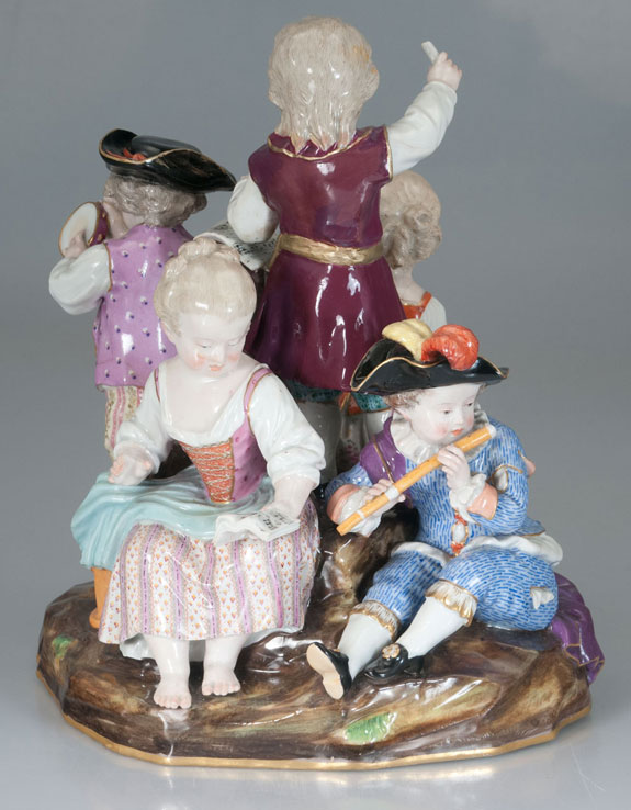 Meissen Porcelain Children with Musical Instruments