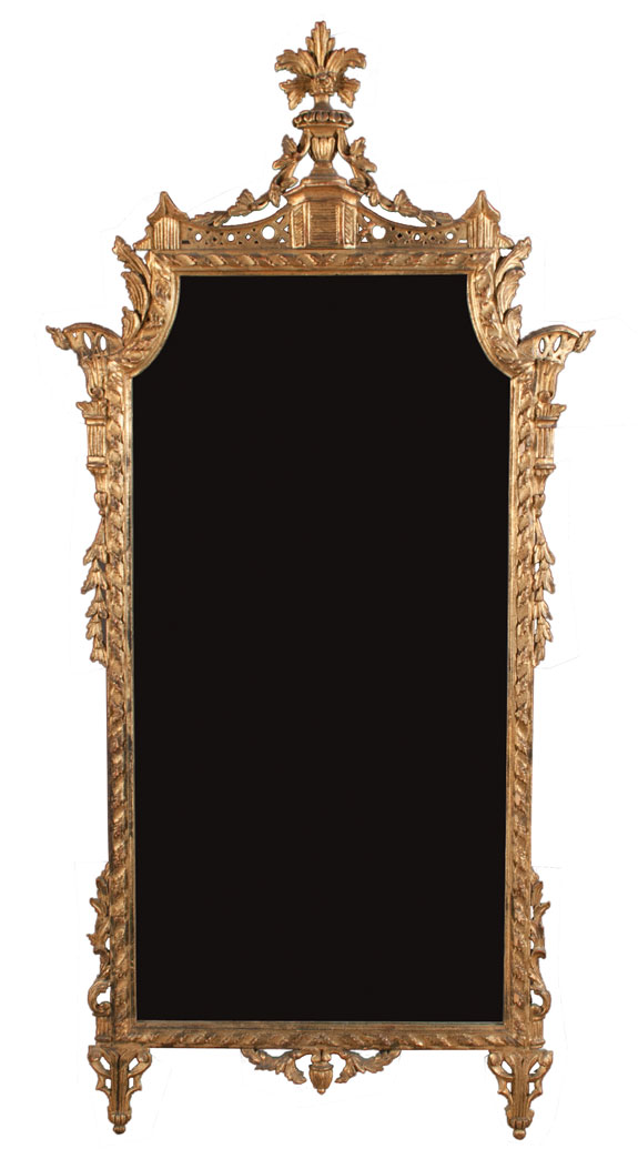 Louis XVI Style Carved and Gilt Mirror