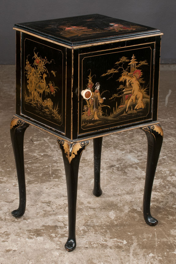 Queen Anne Style Chinoiserie Cabinet