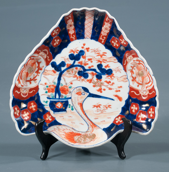 Imari Porcelain Fan Shaped Dish