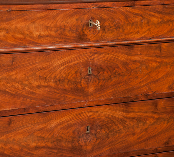 Louis Phillipe Walnut Marble Top Commode