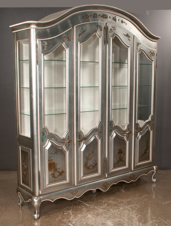 Silver Leaf Dome Top Display Cabinet