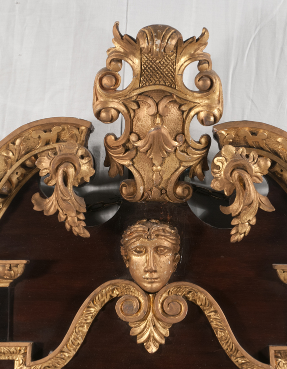 Chippendale Style Mahogany and Gold Gilt Mirror