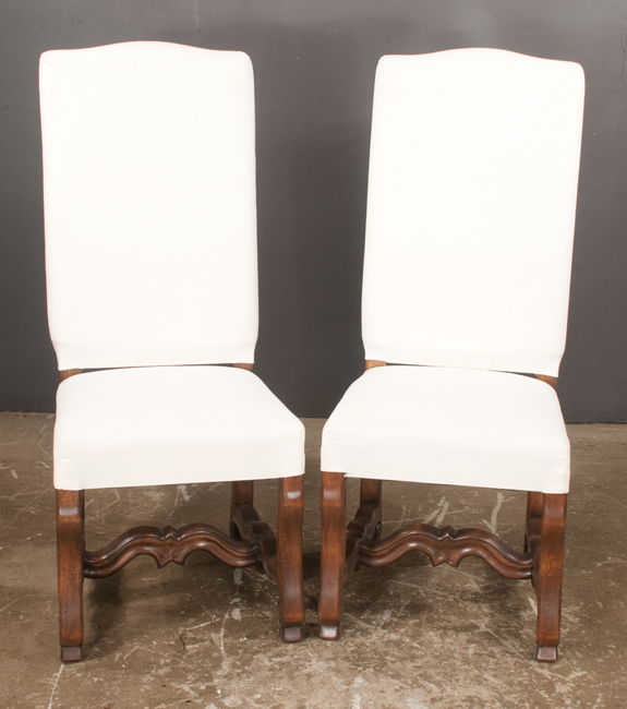 Set of Six Country French Style Dining Chairs