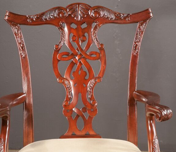 Set of Eight Chippendale Mahogany Dining Chairs