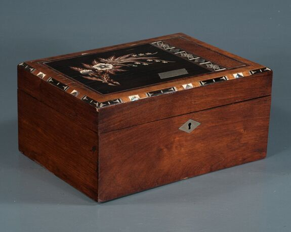 Inlaid Mahogany and Rose Wood Sewing Box