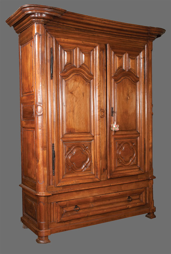Exceptional Country French Walnut Armoire