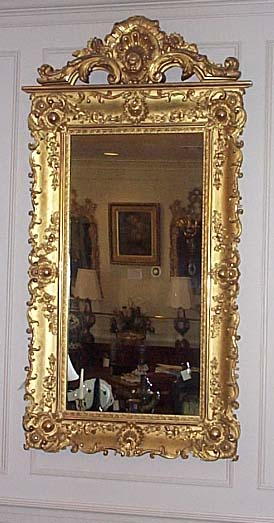 Late Georgian Gold Leaf Mirror