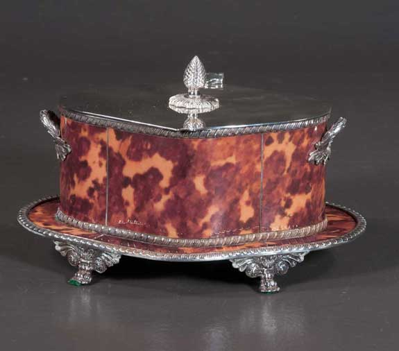 English Silver Plated Double Handled Box