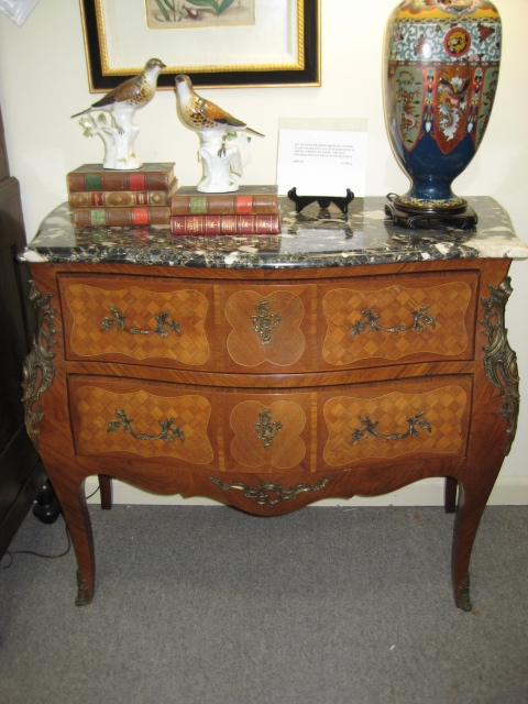 Pair Of Louis XV Style Bombe Commodes
