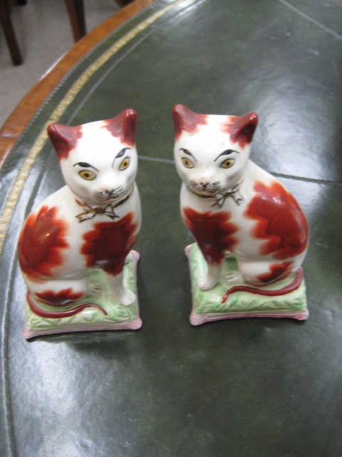Handpainted Staffordshire Cats