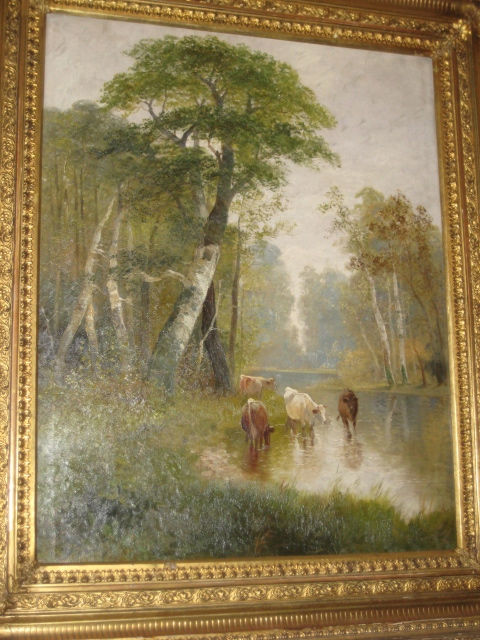 Oil On Canvas Of English Landscape
