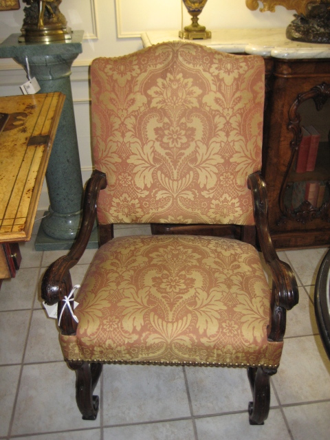 Louis XIV Walnut Fauteuil With Stretchers