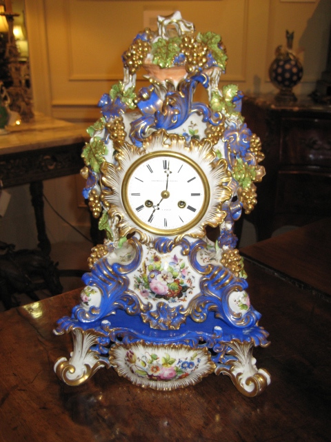 Jacob Petit, Paris, Two Piece Porcelain Mantle Clock