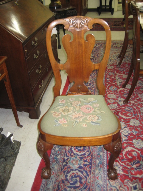 A Set Of Eight Georgian Style Walnut Dining Chairs