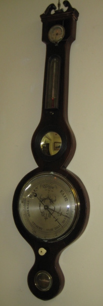 Chippendale Style English Mahogany Barometer