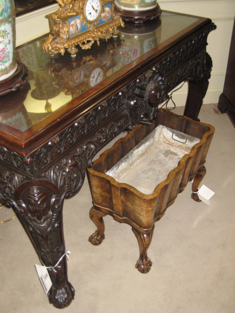 Irish Chippendale Carved Mahogany Center Of The Room Table