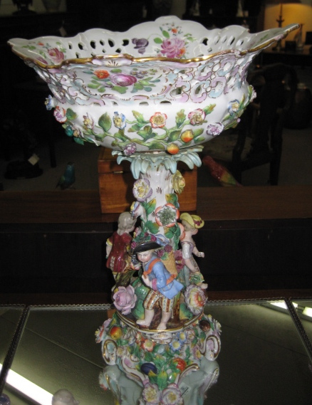 German Porcelain Figural Centerpiece