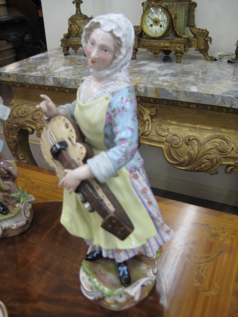 A Meissen Figure, Hurdy Gurdy Player