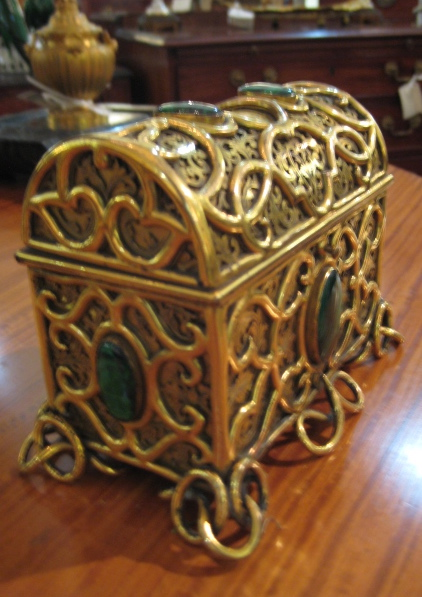 French Bronze Dome Shaped Caddy