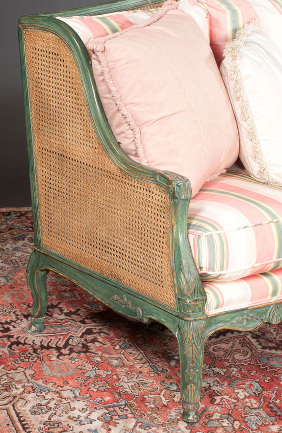 Louis XV Style Carved And Painted Sofa