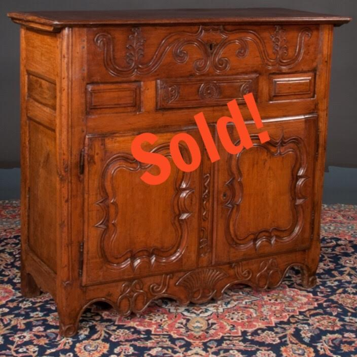 Country French Cherry Wood Buffet Cabinet ...