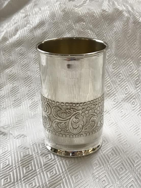 A Collection of Eight Decorated Gorham Sterling Silver Mint Julep Cups
