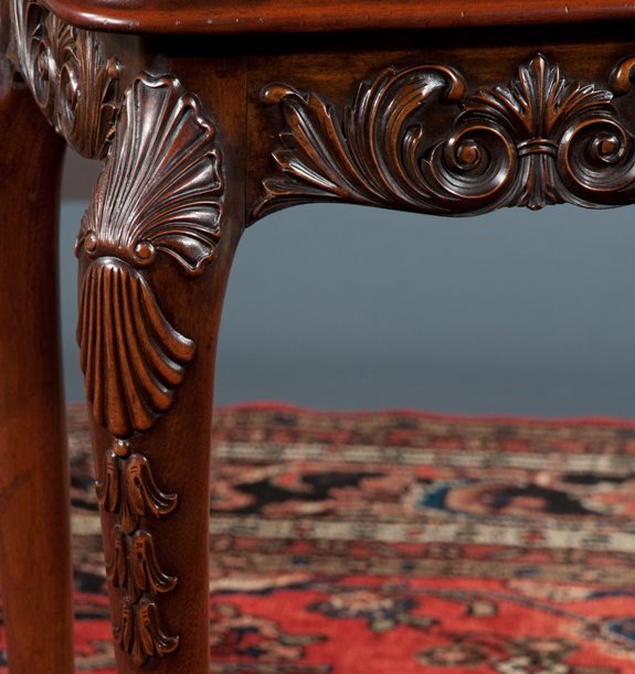 Irish Chippendale Mahogany Side Table