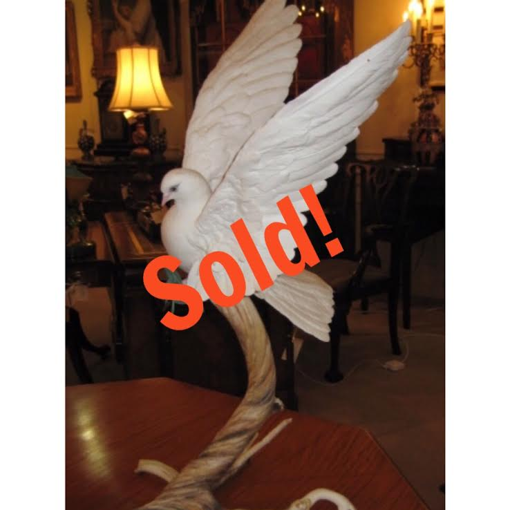 Boehm Porcelain White Dove With An Olive Branch