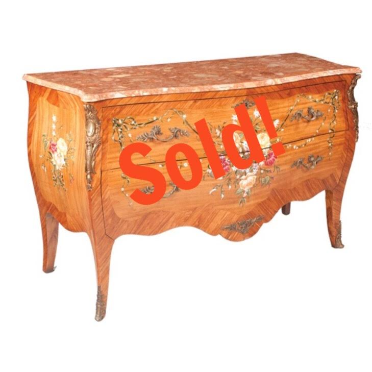 Louis XV style Bombe Serpentine Front Commode