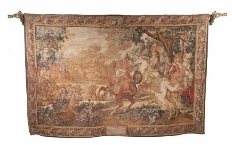 Hanging Tapestry with a Battle Scene