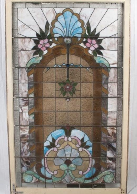 Exceptional Leaded Glass Window