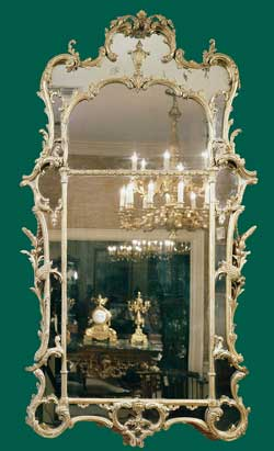 A Fine George III Giltwood Mirror
