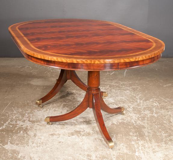 Sheraton Style Mahogany Two Pedestal Dining Table