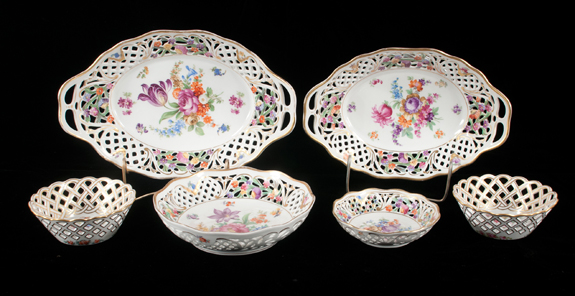 Group of Schumann Dresden Porcelain