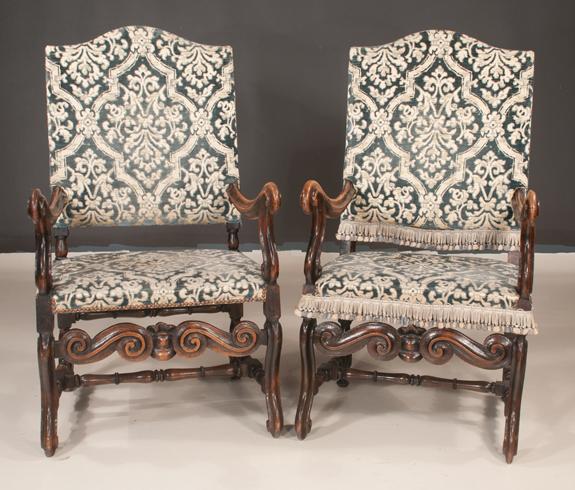 18th Century Italian Walnut Armchairs