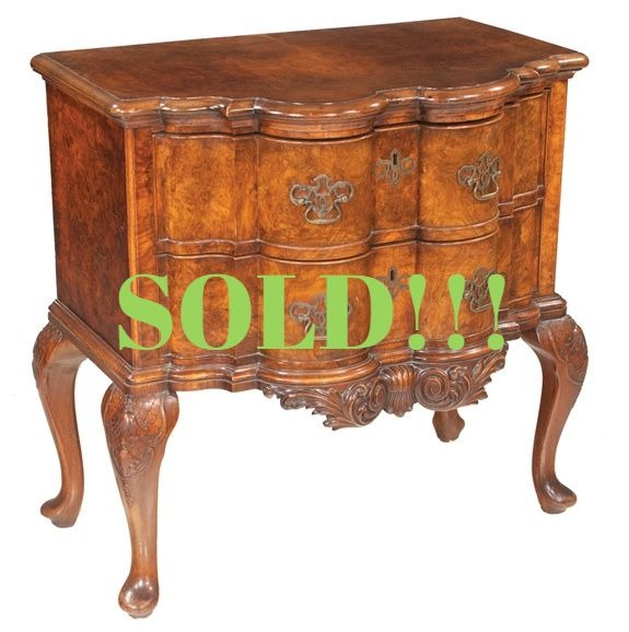 Queen Anne Style Walnut Block Front Lowboy  (SOLD)