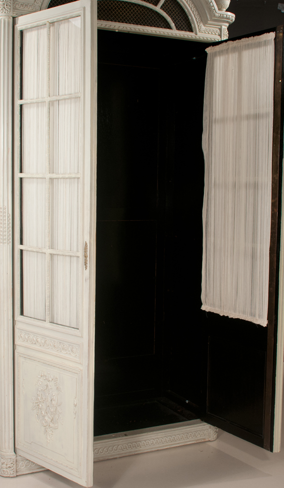 Louis XVI Style Painted Armoire