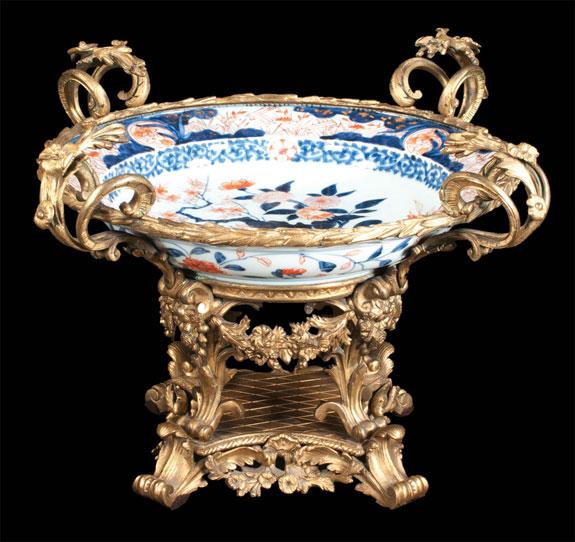Superb Bronze Mounted Imari Porcelain Center Piece