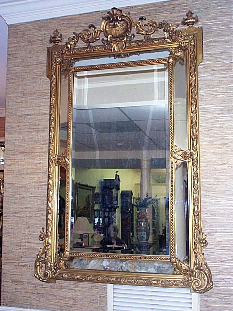 Louis XV Carved And Gold Gilt Pier Mirror