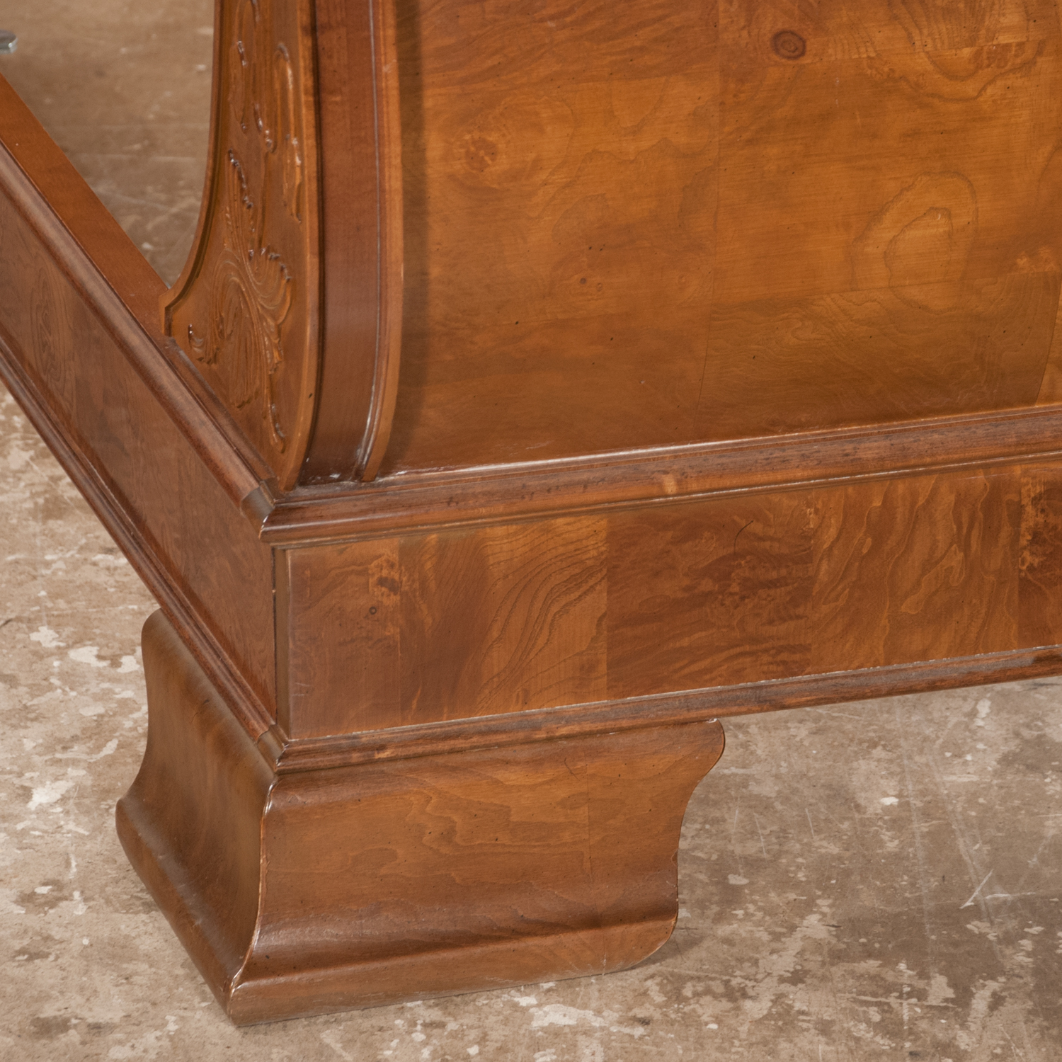 Walnut Twin Size Sleigh Bed  (SOLD)