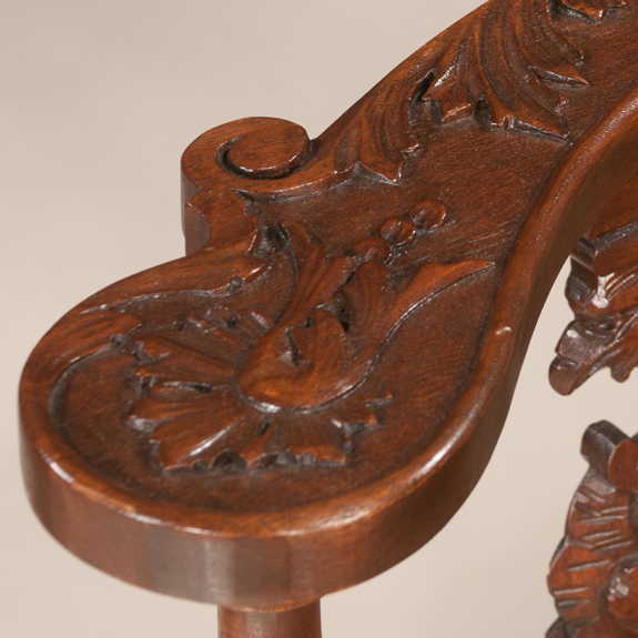 Pair of English Mahogany Corner Chairs