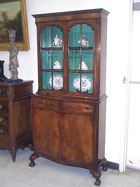 A Fine Georgian Style Walnut Cabinet