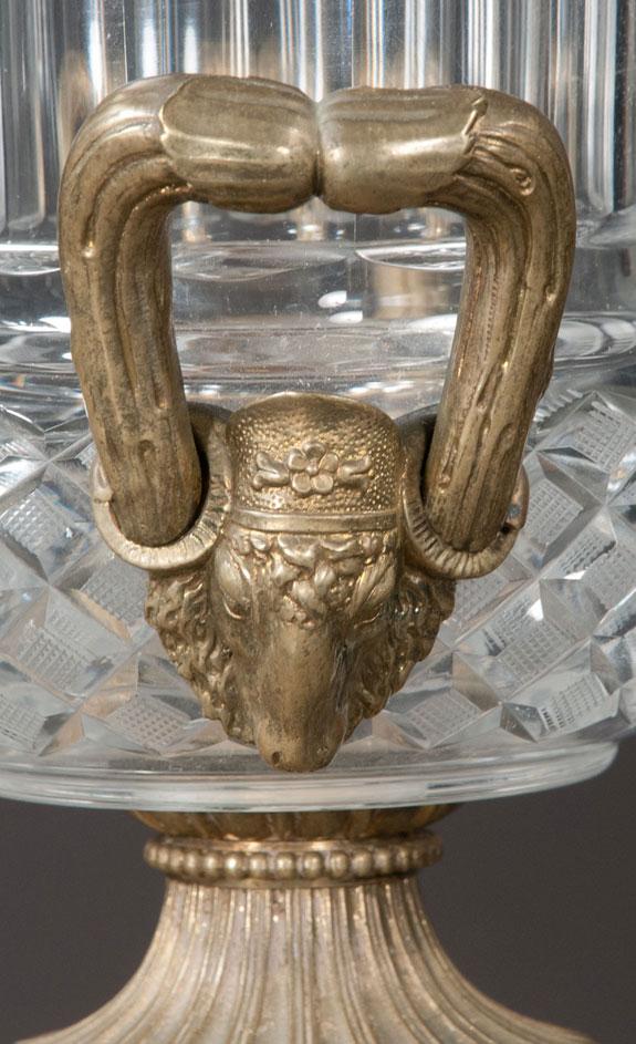 Pair Of Bronze Mounted Urns