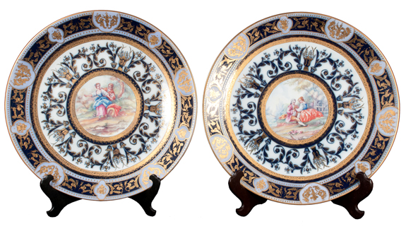 Pair of KPM Porcelain Chargers