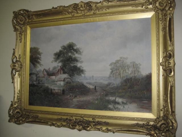 Oil On Canvas By Arthur James Lewis
