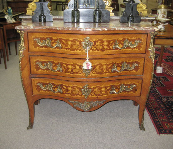 Walnut Commode With Marquetry Inlay