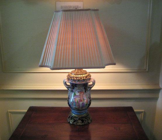 English Porcelain Lamp